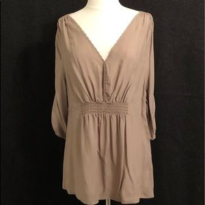 Old Navy taupe blouse